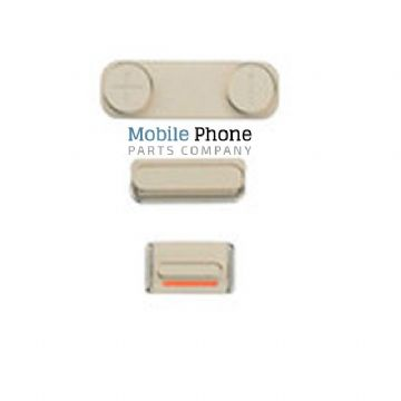 iPhone 5SE External Side Button Set in Gold